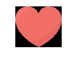 Ilustração de uma mão sustentando em sua palma aberta um coração cor-de-rosa.