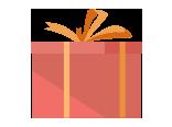 ilustração de uma caixa de presente vermelha